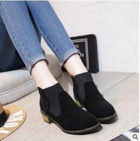 bare wood - Point Of New Fund Of Autumn Female Thick With Chelsea Boots Martin Short Boots Bare Wood With Women s Leather Shoes Q