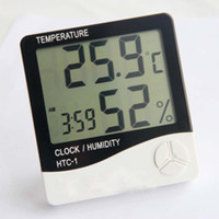 barometer glass - New Mini Portable Digital LCD Indoor Humidity Thermometer Hygrometer Meter Electronic New Weather Station Wireless Barometer
