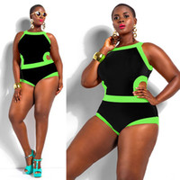 best plus size swimsuits - 2016 Hot swimwear plus size women Bandage One Piece Swimsuit High Waist Padded Plus Size Swimwear for Women Large Bathing Suit Best gift