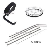Wholesale For Oz YETI Cup Mugs Tumbler Rambler Cup Handle Holder Lid Straws Brush