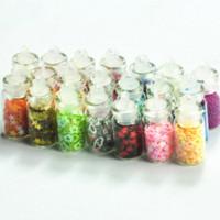 baby bottle art - New Styles Mini Bottles Nail Art Glitter Spangle Powder Decoration bottle valve decorative baby bottles
