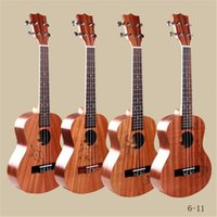 best folk - 26 inch Mini Ukulele Guitars Best Quality Rose Wood Closed Sapelli Four Strings Brown Folk Sculpture Musical Guitars for Adult Children