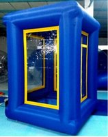 Wholesale 9ft Inflatable Cash Cube Money Machine Advertising Promotion with Three Blowers