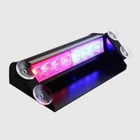 Precio de Emergency light-8 LED rojo / estroboscópico del coche policía de luz de flash azul del piloto de la rociada de emergencia 3 destellan luces de niebla