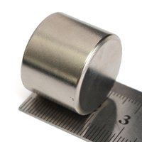 Wholesale Lowest Price N52 Strong Round Cylinder Magnet x20mm Rare Earth Neodymium Magnet