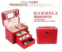 beauty drawer - Beauty leather jewelry box with drawers color in stock Suitable for all kinds of gifts drop shipping