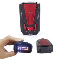Wholesale Hot Degree Car Band V7 GPS Speed Safety Radar Detector Voice Alert Laser LED free DHL