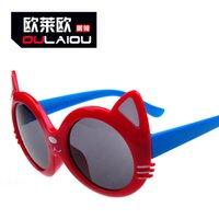 Lunettes de soleil pour enfants en gros Dazzle couleur enfants grenouille miroir oreille enfants lunettes de soleil Best Party Gift Item No.T-115