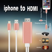 apple hdmi dock - Dock to HDMI HDTV TV Adapter USB Cable P for iPhone S S PLUS S PLUS HDMI Cable