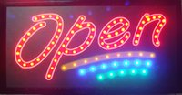 Wholesale 20pcs led shop open sign business direct selling led sign X19 inch semi outdoor flashing custom led open signs