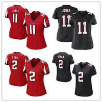 white falcon - Women s Jerseys Falcons Julio Jones Matt Ryan Devonta Freeman red black football Jerseys cheap rugby t shirts Size S XL