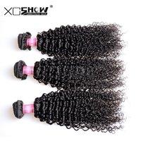 Wholesale Cheap 5pcs Curly Hair - XC Show Hair 7A Brazilian Curly Virgin Hair 5PCS Cheap Brazilian Virgin Hair Weave Bundles Ali Brazilian Kinky Curly Virgin Hair in Stock