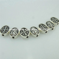 antique bead necklaces - 14956 PC Alloy Antique Silver Vintage Mini Cross Virgin Mary mm Spacer Beads