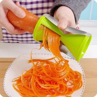 Wholesale 2016 Vegetable Fruit Spiral Slicer Spirelli Graters Carrots Spiralizer Julienne Cutter Peeler Kitchen Gadgets fast shipping JF