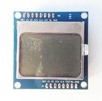 Wholesale blue X48 Nokia LCD Module with blue backlight with adapter PCB for Arduino freeshipping