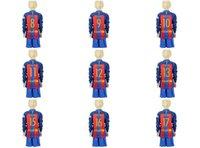 barcelona red sleeves - NEW Uniforms Kit Youth Kids Barcelona soccer Jersey Suarez Messi Neymar JR Red Black Stripe Long Sleeve Jerseys
