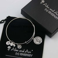 american fast food - Fast Shipping Top Sell Initial letter J Charm Bangle alex and ani SILVER bracelet with box and pouch with logo