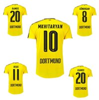 Wholesale Top Quality MARCO REUS Borussia Aubameyang Soccer Jersey Pulisic Camiseta Maillot De Foot