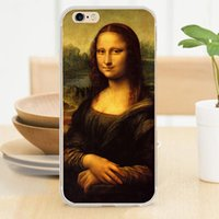 apple lisa - Mona Lisa UV Printed Soft TPU Rubber Silicone Clear Cover for iPhone S S SE C Plus Case