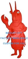 adult food costumes - Sea Food Crawdad Mascot Costume Adult Cartoon Character Party Plush Mascotte Kit Suit SW893