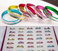 aluminum anniversary gifts - Fashion Colorful Mens Women Finger Rings Lover Rings Jewelry Aluminum Rings Fashion Bulks Multicolor Band Rings Jewelry