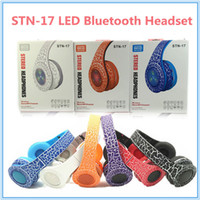 Cheap 2016 Stereo Wireless Headphone Headsets Noise cancelling Bluetooth DJ Headphones High Performance Headphones Crack LED With FM TF MIC STN-17