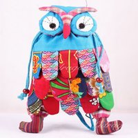 Wholesale Free DHL Color Fashion baby kids bag owl children s school bag optional Size cm Cute Backpack Chinese National Characteristics