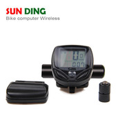 Wholesale LCD Backlight Waterproof line digital screen cycling speedometer stopwatch mountain bicycle timers bicycle computer B084