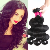 Wholesale 3Pcs Virgin Brazilian Hair Body Wave Human Hair Wefts Malaysian Peruvian Mongolian Cambodian Indian Unprocessed Human Hair Extensions