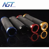 bicycle camping gear - 1 Pair Handlebar Grips Base Camp Mountain Bike Road Bicycle Grips Fixed Gear Cycling Double Lock on Nonslip Rubber Bar