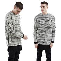 clothes dropship - Designer brand top quality Hip Hop Streetwear sweatshirt swag Side Zipper Hoodies Sweatshirts Men dropship pullover mens clothing