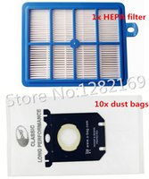 Wholesale 10x Vacuum Cleaner Dust Bags s bag and x H12 Hepa filter Replacement for Philips Electrolux Cleaner to Ru