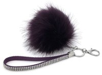 Wholesale 2016 Large Fox Fur Keychain Pom Pom keychain Cm fur ball Keychain Car Keyring Bag pendant Accessories