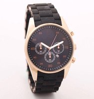Wholesale free hk shipping _Absolute luxury New Mens Black and Gold Chronograph Watch AR5905 CHRONOGRAPH WRIST WATCH