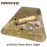 Wholesale Armiyo Brass Boresighter CAL WIN mm REM WIN Cartridge Rifle Bore Sight Hunting Gun Optics Red Laser