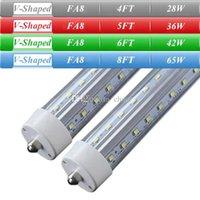 T8 28W 36W 42W 65W SMD 2835 New V-Shaped Single Pin FA8 T8 LED Tube Lights 4FT 5FT 6FT 8FT LED Fluorescent Tubes 270 Angle Lighting LED Daylight Lamps