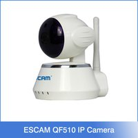 Wholesale ESCAM Secure Dog QF510 IP Camera security alarm P Cctv Webcam P2P Wifi control IR LED Night Vision Color White