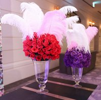 angels housing - 7 colours DIY Ostrich Feathers Plume Centerpiece for Wedding Party Table Decoration Wedding Decorations hot selling CM
