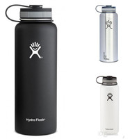stainless steel water bottle - 32oz oz Black red Hydro Flask Cups Insulated Stainless Steel Hydro Flask Water Bottle Wide Mouth Water Bottle hydro flask mugs