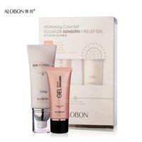 Wholesale ALOBON SPF30 Sunscreen Cream Face Care ml g a set Cool whitening Moisturizing Isolation Concealer Skin Care Cream
