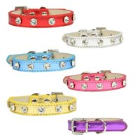 Wholesale dog collar charms dog collars New fashion diamond color pet collar pet pet direct gold and silver Festival