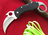 best cutting knives - Spyderco Karahawk Folding Knife w Emerson Opener quot Satin Plain C170GP Tactical knives Wire cut EDM the best quality edition