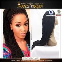 twist tie - Cheap Fashion Hair Wigs Kinky TWIST Braided Wig Senegalese SINGLE Twist Lace Front Wig Braid Synthetic Braided Lace Wig