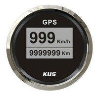 Wholesale KUS mm GPS Speedometers Auto GPS Tachometers V V For Boat Automobile With Antenna Black