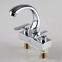 Wholesale Kitchen room faucet Single Holder Dual Hole Sink Faucets Deck Mounted Faucets Zinc Alloy Faucets