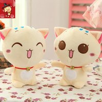 best quality videos - 18CM Lovely Big Face Smiling Cat Stuffed Plush Toys Soft Animal Dolls Factory Lowest Price Best Gifts for Kids High Quality