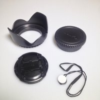 Wholesale Camera Photo Photo Studio Accessories in1 Kit mm Flower Lens Hood Body and Rear Cap Lens Cap Cap Keeper for Can on D