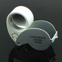 Wholesale x mm Glass Magnifying Jeweler Magnifier Eye Jewelry Loupe Loop tz Lights Led Light DHL