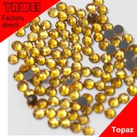 Wholesale Topaz crystal Hot drilling Rhinestones Flatback Round gross in a Nail Art Hot Fix Shoes Rhinestones