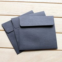Wholesale Square Coloured Envelopes Mailers Midnight Black Envelopes Mailers for Greeting Cards Party Invitations and Crafts